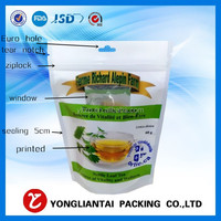 stand up dry fruit packaging bag with euro hole