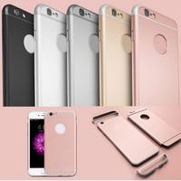 Hot Sale Luxury Ultra Slim 3 in 1 Rose Gold Hybrid Hard PC Back Case For Iphone 6 6S 6plus Removable Armor Logo Circle Cover