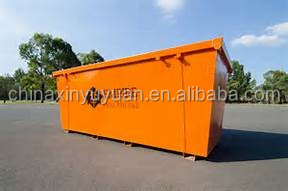 Skip loader truck bins in flat pack