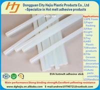 White clear hot melt adhesive glue stick for V-CUT assembly of wooden boxes/cases