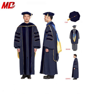 Deluxe PHD Academic Regalia Doctoral Graduation Gown/Cap/Hood