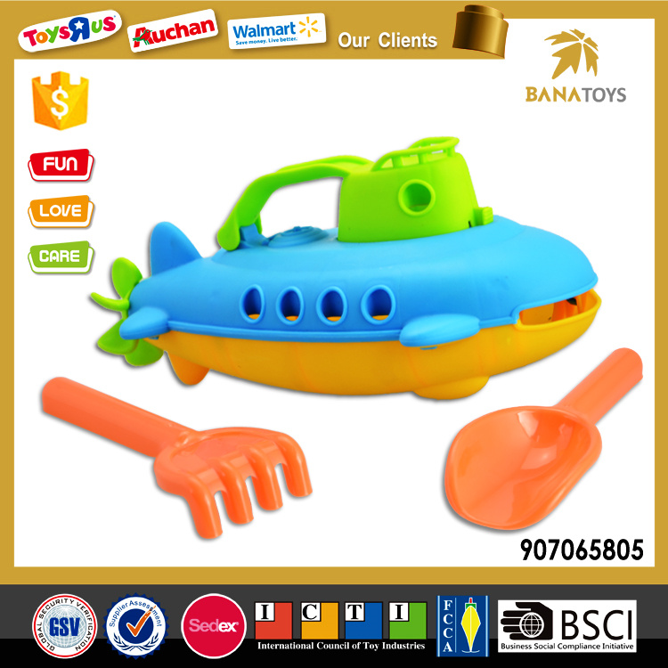 Plastic Beach Boat Toy with Shovel