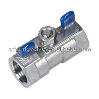 SS 304/316/cf8/cf8m 1PC Ball Valve With Butterfly Handle