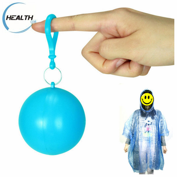 Various kind of material PE/PEVA/EVA/PVC/Polyester disposable raincoat rain poncho in ball