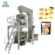 Automatic vertical potato chips snack packing machine 1kg dry food fruits Packing Machine with 10 head weigher