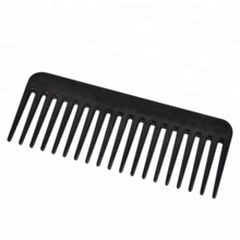 Free Shipping Custom Logo 19 Teeth Wide Tooth Comb Black ABS Plastic Heat-resistant Large Wide Tooth Comb For Hair Styling Tool