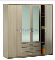 2015 best quality small wardrobe designs with mirror