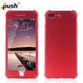2 in 1 Front + Back Hard PC Soft Touch Full Cover Shockproof 360 Degrees Full Body PC TPU Case For iphone 7 Plus Cell Phone case