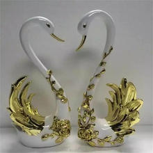 Wedding table centerpieces custom resin ornament swan lovers craft statue