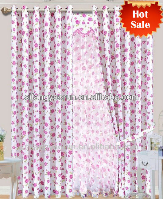 Fancy fabric designs for curtain tape/cheap guest room curtains