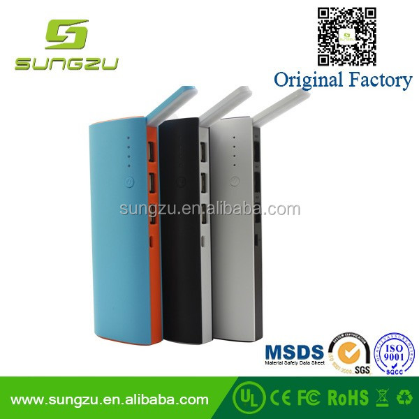 Super capacity power bank with reading light for home and outdoor,10400mAh power charger bank