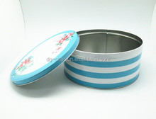 Pass food grade food industrial use recycled material empty round tin box