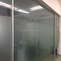 HD113 aluminium framed automatic sliding glass door