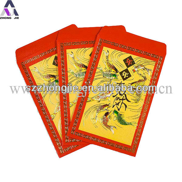 Cheap price customized chinese new year red packet envelope