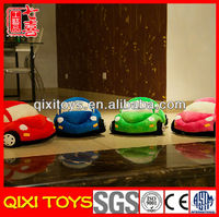New arrival cute and lovely stuffed plush cartoon car baby toy