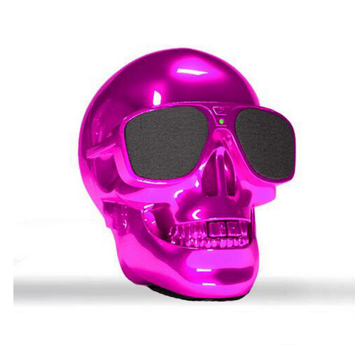 Skull Head Shape Portable Wireless Mini Bluetooth Speaker for Desktop PC/Laptop Notebook/Mobile Phone/MP3/MP4 Player with Radio