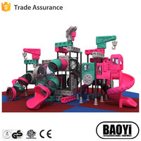 playground equipment outdoor plastic slide for sale