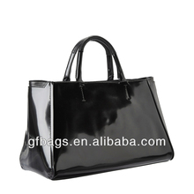 GF-J274 2013 New Women's Black Large Real Leather Tote Bags Designer Bags