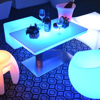 Cheap !!! Rechargeable Led Light Coffee Table /illuminated coffee table