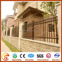 Wrought iron yard fencing Ornamental wall fence used for villa