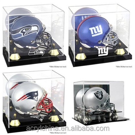Deluxe Acrylic Mini Helmet Display Case for Helmet