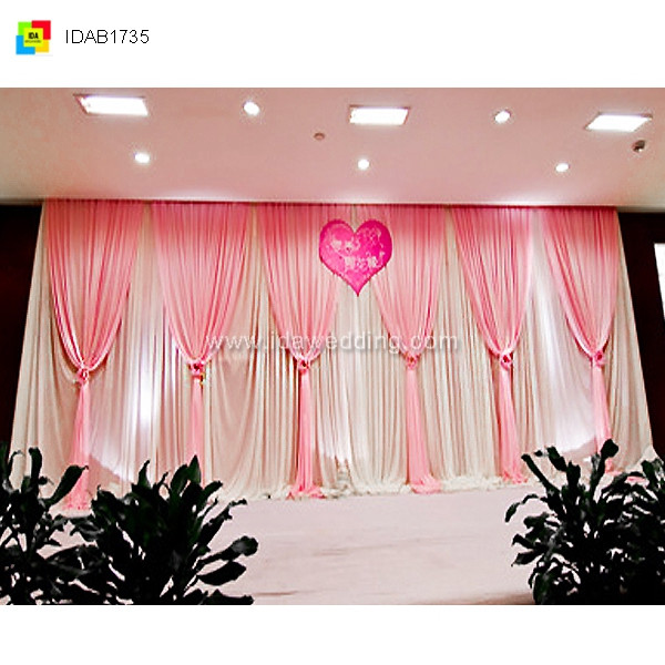 IDA flower backdrop wedding curtain/ wedding supplies shenzhen/ stage curtain draping kits
