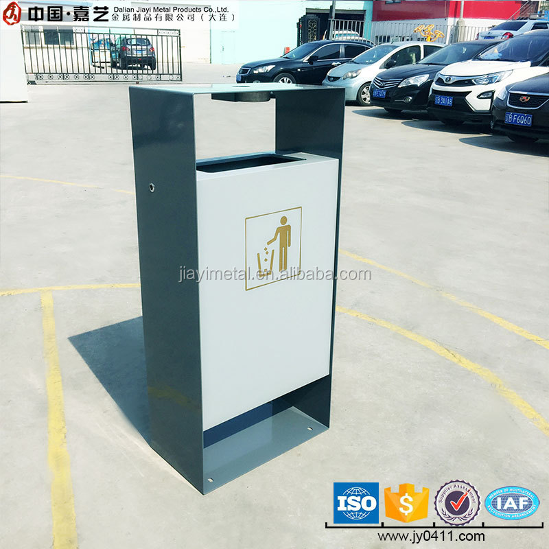 stainless steel box standing ashtray dust trash bin stand
