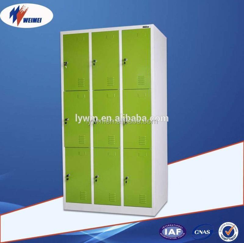 9 Door Steel School Locker Different Colour Steel Almirah