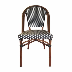 Outdoor Dining Portable Bistro Bamboo Chairs Rattan Wicker Chair