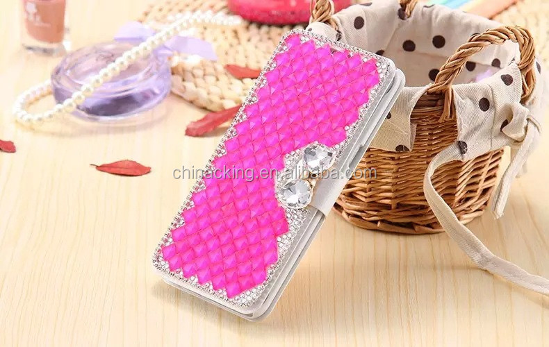 S7/S7 Edge Wallet Case Flip Card Slot Cell Phone Case For Samsung Galaxy S7 G9300/ S7 Edge Fashion Full Diamond Rhinestone Cover