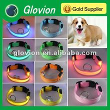 Glowing dog collars and leads LED Flashing PET Dog Collar Leash Set LED Flashing Dog Leash Wholesale