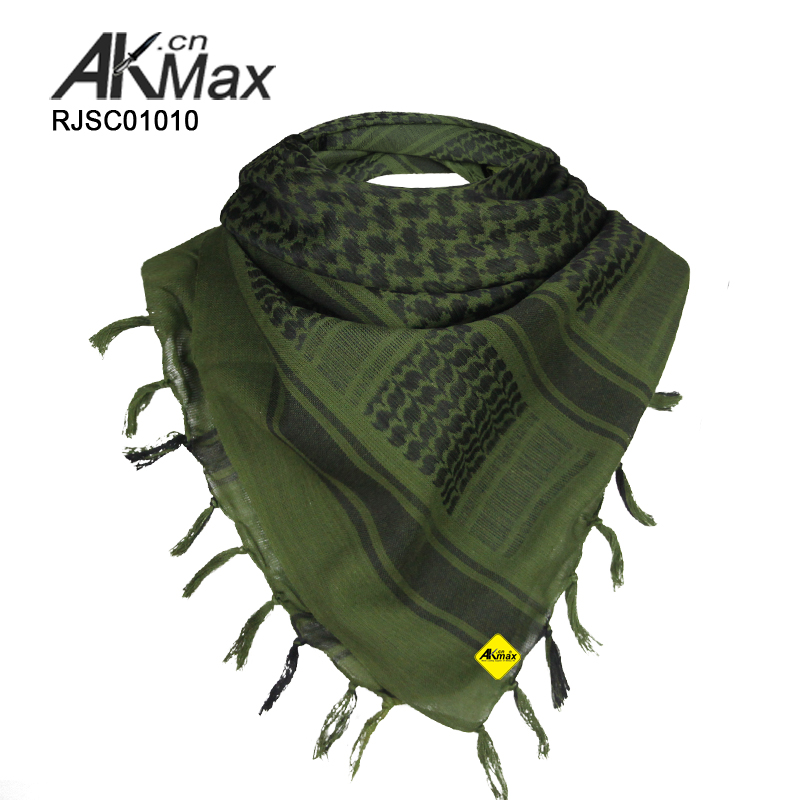 olive green arab scarf military scarf outdoor scarf