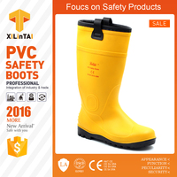 yellow color cold-resistant safety boots with cotton inner for winter