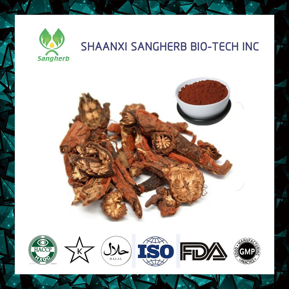 Factory Supply Natural Danshen Extract,Danshen Root Extract Powder for medical food and cosmetic