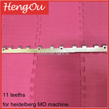 Aluminum gripper bar 43.013.020 for heidelberg mo, heidelberg MO machine spare parts with11 teeths