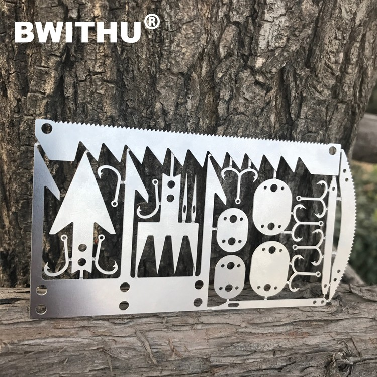 2017 BWITHU Survival MultiTool Card Sized Best Multitool for Camping and Wilderness Survival Preppers Gear