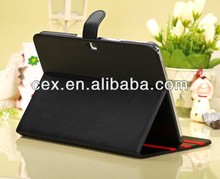 Slim Magnetic Two Folding Cover Stand Case for Samsung Galaxy Tab 3 10.1 Inch GT-P5200 / GT-P5210-Black Color