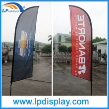 3.4M Outdoor knitted polyester customs printing advertising promotion feather flag