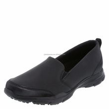 Black Synthetic Slip Resistant and Oil Resistant Comfort Insole Police Shoes