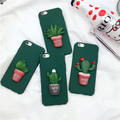 New Painted Cactus Pattern PC Gel Back Case Cover For iphone 7