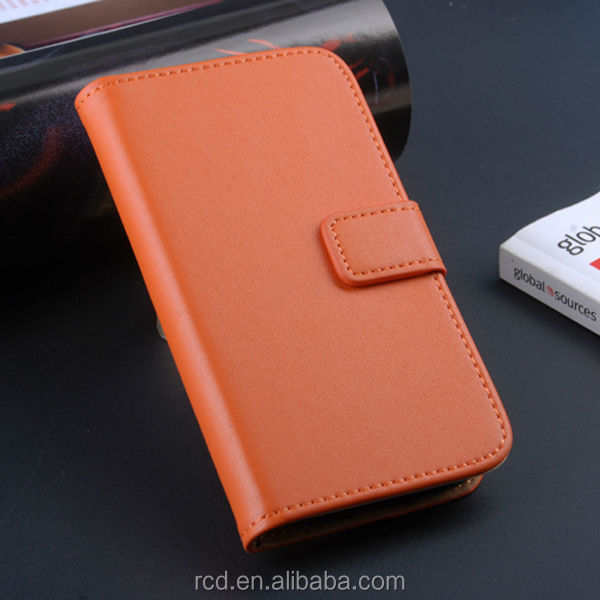 New Arrival Smartphone Genuine Leather Case Cover for Samsung Galaxy S4 mini i9190 Card Pouch Stand Holder RCD03475