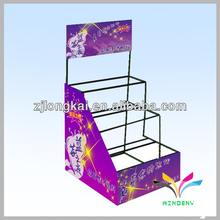 Fashion design metal balck hair bow color display racks