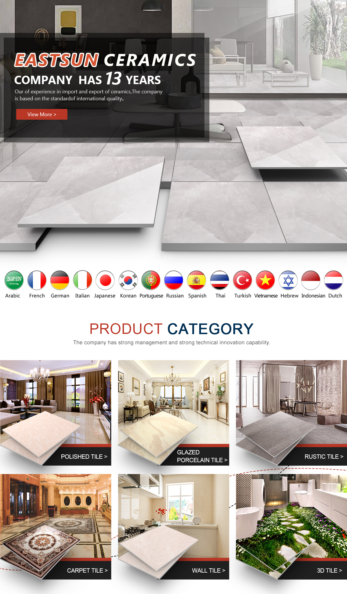 Foshan Eastsun Import & Export Co., Ltd. - Polished Tile, Glazed ...