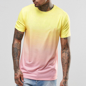 High Quality New Design Cheap Wholesale Short Sleeve Gradient Men's Blank T Shirt