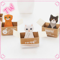 factory direct customized logo korean stationery promotional cute animal design paper sticky notes in different shapes
