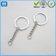 Silver Iron Split Key Chain Ring W/ 25mm Chain And Screw