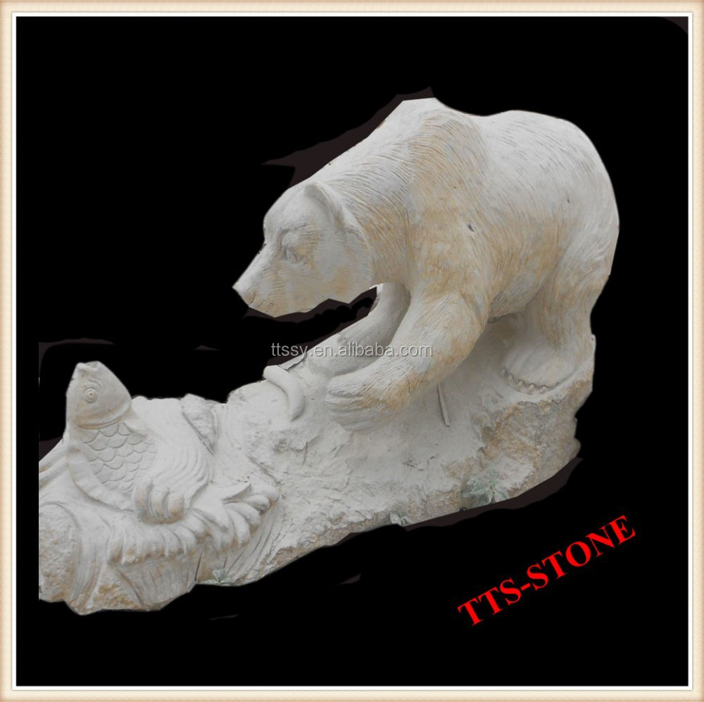 Excellent Craftsmanship Outdoor Stone Bear Statue