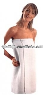 plain dyed cotton terry body wrap