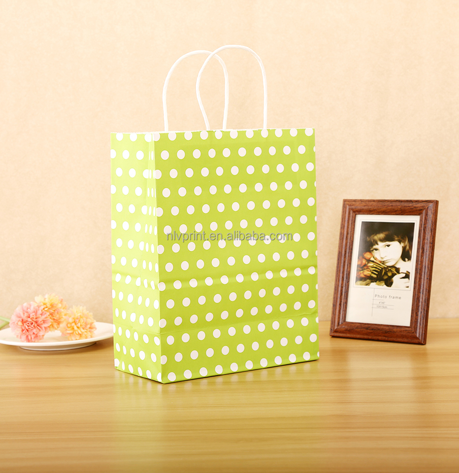 Factory Supplied Customized Size Multi-color Kraft Paper Bag With Handle