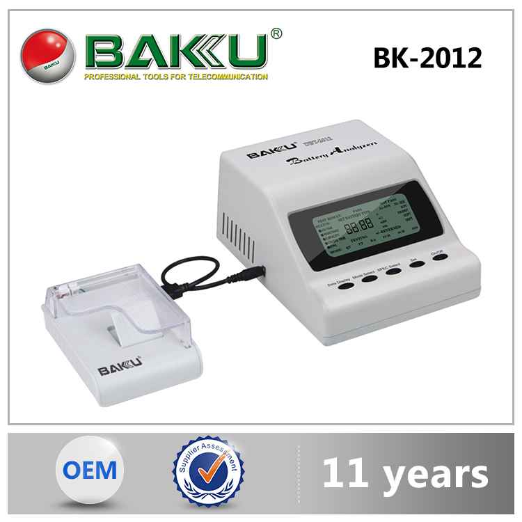 BAKU Hot-Selling Good Price Long Life Time Digital Battery Analyzer Tester With Print Function BK 2012